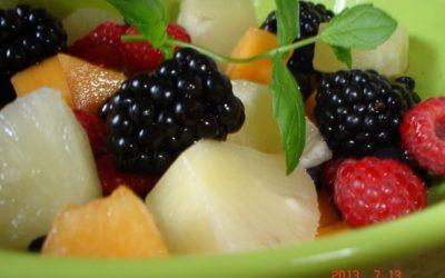 Sárgadinnyés gyümölcssaláta