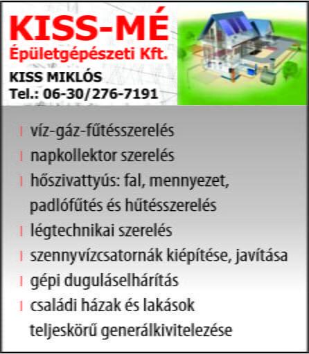 Kiss-Mé  Épületgépészeti  Kft.