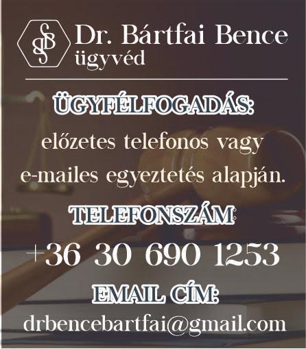 Dr. Bártfai Bence Ügyvéd