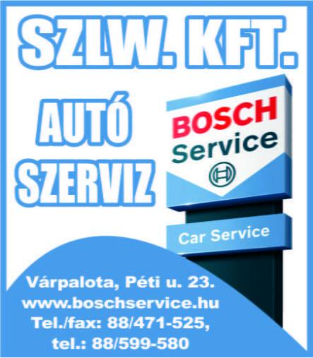 Szlw. Kft. Bosch Autó szerviz